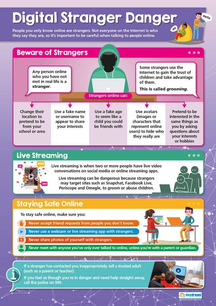 Digital Stranger Danger | Online Safety Posters | Gloss ...
