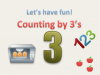 Counting in 3's