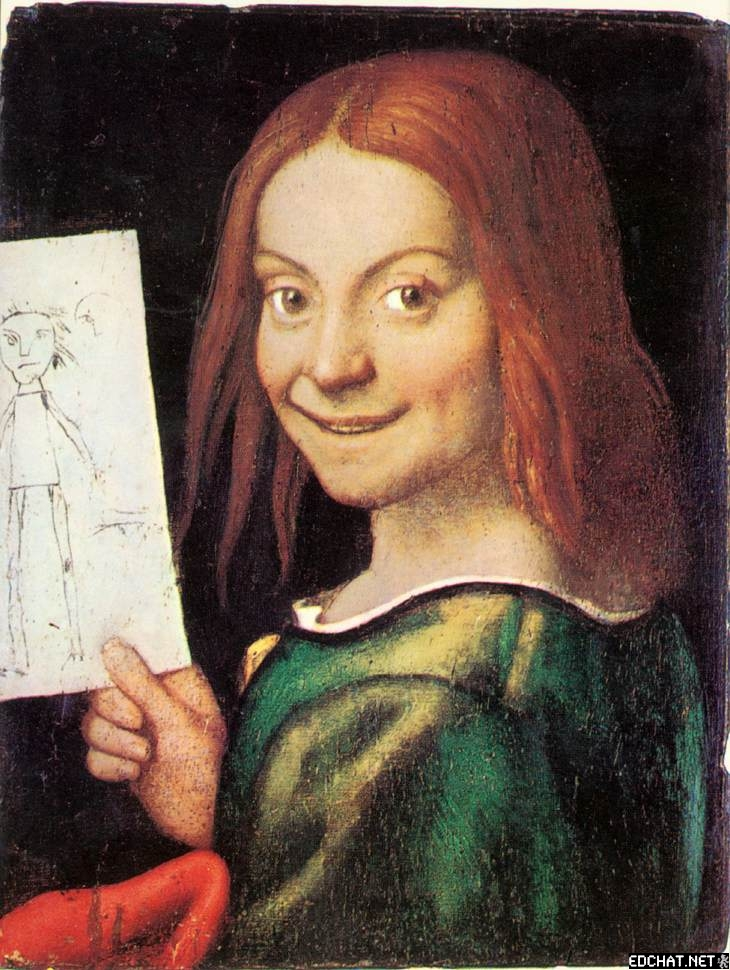 Portrait of a Child with a Drawing