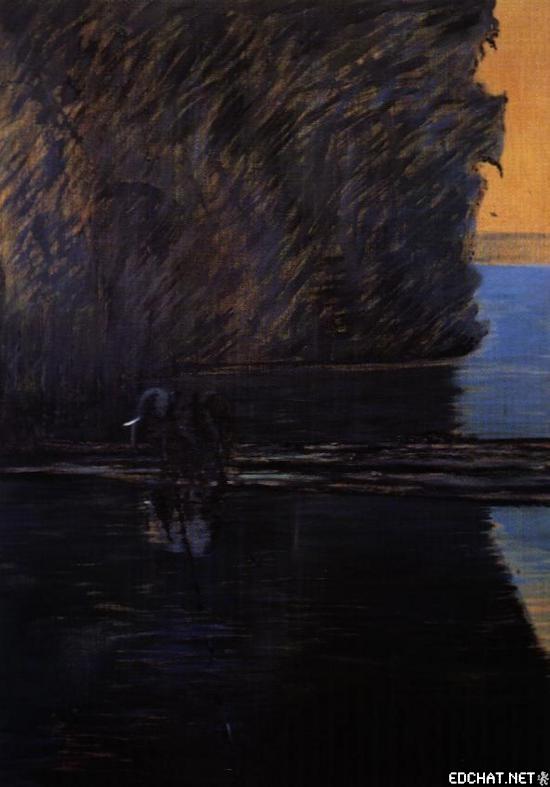 Elephant Fording a River