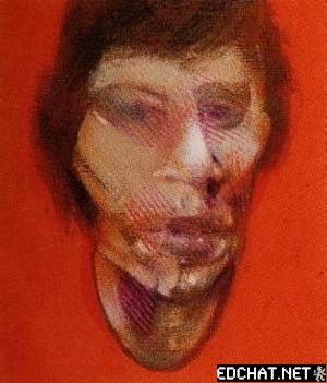 Three Studies for a Portrait of Mick Jagger - left