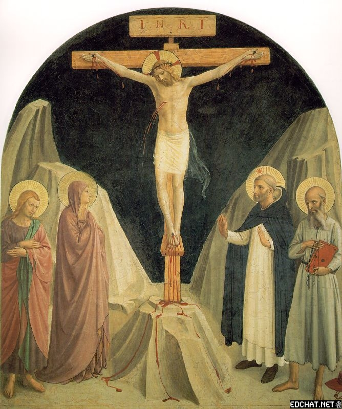 Crucified Christ with St. John the Evangelist