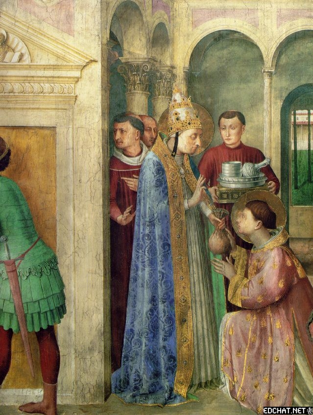 St. Lawrence receiving the treasures of the church