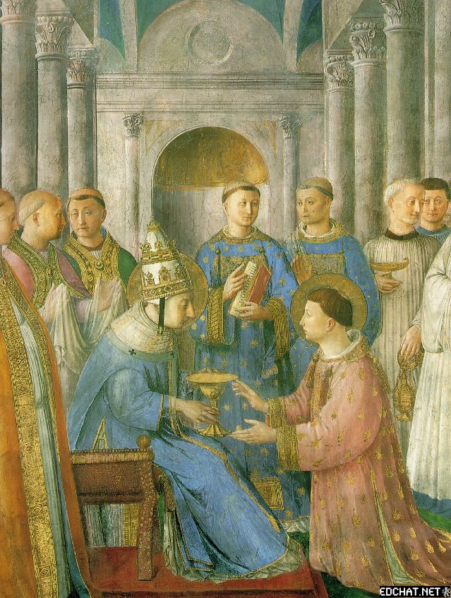 The ordination of St. Lawrence