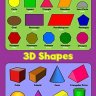 2D Shapes 3D Shapes - Childrens Basic Wall Chart Educational Numeracy Childs Poster Art Print WallCh