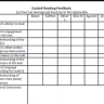 Guided Reading Feedback Template
