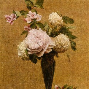 Vase of Peonies and Snowballs