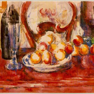 Still Life - Apples, Bottle and Chairback