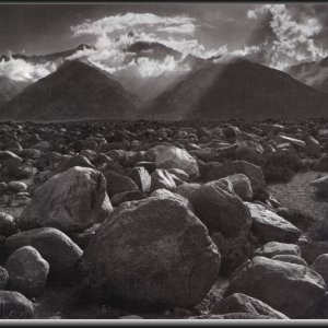 The Story of Winter Sunrise, Sierra Nevada from Lone Pine, by Ansel Adams