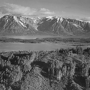 View Across River Valley, Grand Teton National Park, Wyoming, 1941