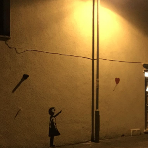 Balloon Girl by Banksy in Ipswich