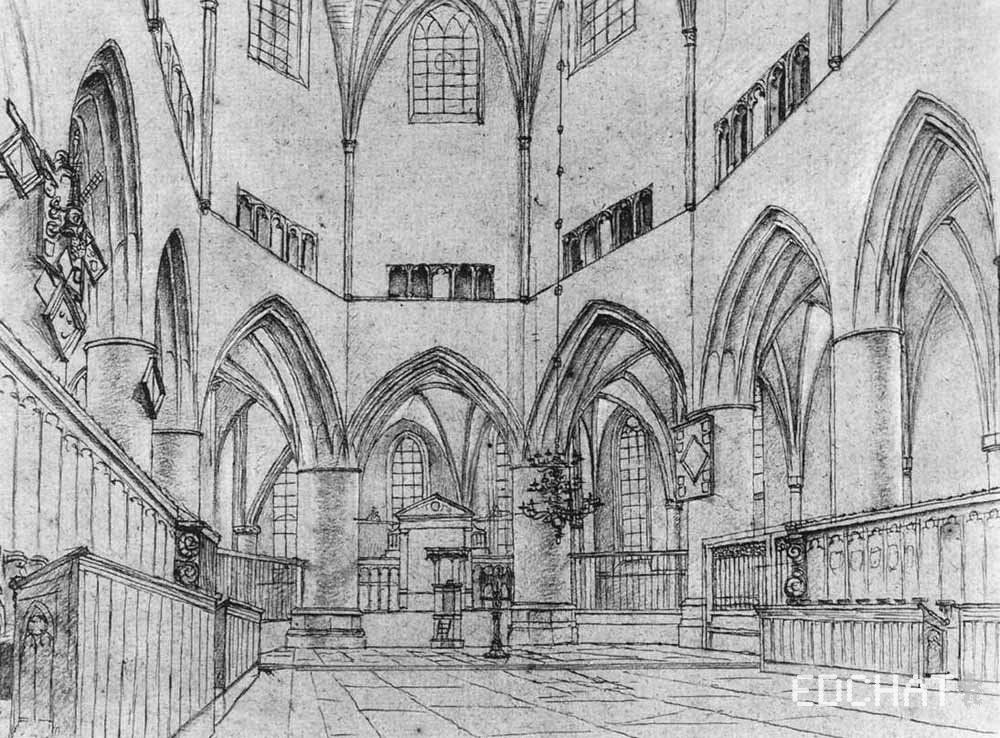 Interior Of The Choir Of St. Bavo At Haarlem